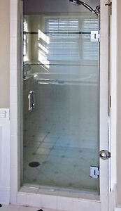 Luxurious Glass Shower Door with Hinges & Handles - New!