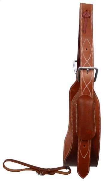 """Showman 5"""" Wide Quality Leather Horse Flank / Back Cinch in MEDIUM OIL! NEW TACK"""