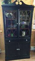 Antique black display cabinet!
