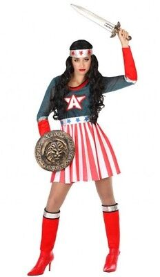 Kostüm Frau Captain America XS/S 36/38 Toll Heroes Comics Neu Billig ()