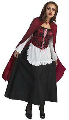 ADULT LITTLE RED RIDING HOOD DRESS HOODED CAPE COSTUME DG171 - Little Red Riding Hood Cape Adult