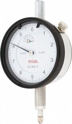 22-303-2 Spi Deluxe Dial Indicator 0.050 Range 0.0001 Graduation 0-10 Reading