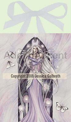 Jessica Galbreth White Magick Art Tile Picture Ceramic Sensations