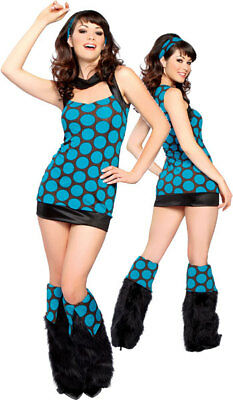 Womens 60s 70s Retro Disco Diva Halloween Costume Dance Fever Medium / Large - Retro 70's Halloween Costumes
