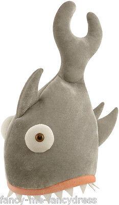 Costume Gris Pour Homme (pour hommes femmes gris shark morsure ANIMAL DRÔLE Festival Costume déguisement)