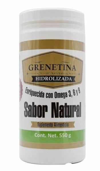 GRENETINA HIDROLIZADA SABOR NATURAL OMEGA 3 6 9 HYDROLYZED GRENETINE NATURAL FLA