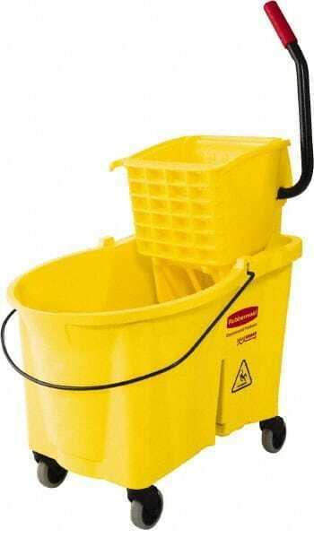 "Rubbermaid 44 Qt Plastic Bucket & Wringer 26.3333"" Long x 38-1/8"" High x 18-1..."