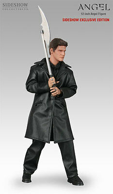 """BTVS Angel 12"""" City of Figure Sideshow Exclusive w/Battle Axe LE 500 Mint in Box"""
