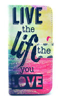 "iPhone 6 Regular (4.7"") Live the Life Leather Flip Cover Case"