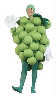 Erwachsene Grün Trauben Frucht Gesund Snack Lebensmittel Kostüm - Grüne Trauben Kostüm