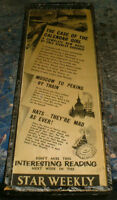 1958 Star Weekly ad -Perry Mason story,Moscow to Peking by Train