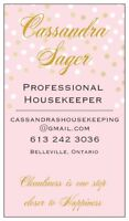 Professional Housekeeper - For All The Busy Families!