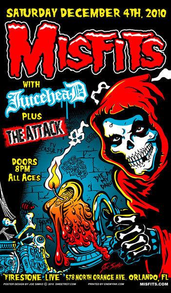 Misfits Poster - Screen Print by Joe Simko