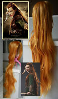 """NEW 100cm Long Golden Wavy Wig for """"TAURIEL"""" Costume"""