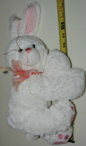 White Soft Plush Stuffed Bunny Rabbit with Bow London Ontario image 2