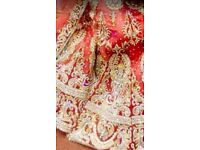 Red wedding Lengha