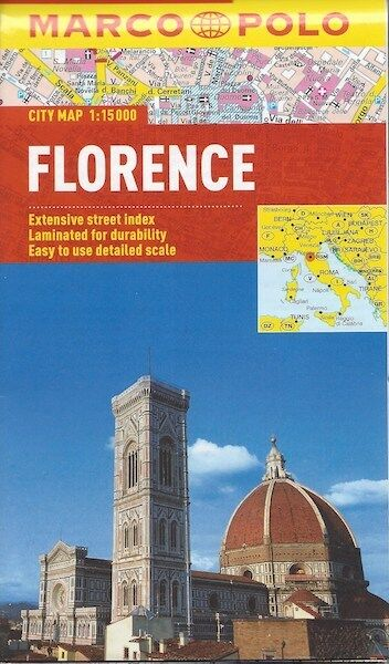 Marco Polo Florence City Map *FREE SHIPPING - NEW*