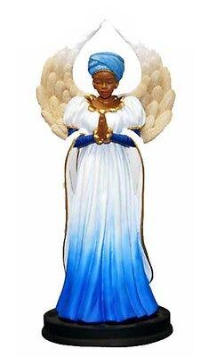 Serenity in Blue Angel Figurine African American NEW SKU 16211