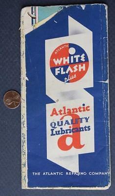 1940s Atlantic White Flash Gas Maryland-Delaware-West Virginia-Virginia road map