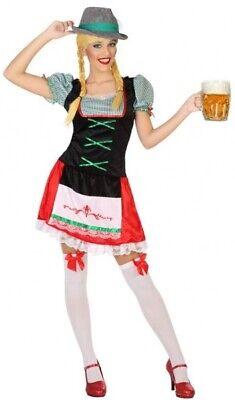 Ladies German Beer Girl Oktoberfest Fancy Dress Costume Outfit  8-22 Plus Size](Plus Size Beer Girl Costume)