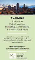 Available Bookkeeper, Office Manager, Assistant & More