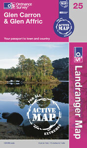 Landranger ACTIVE Map 25 - GLEN CARRON & GLEN AFFRIC - Ordnance Survey - OS