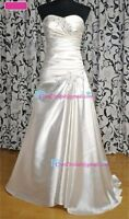 New size 4 & 6 wedding dress - satin in & out  lace up backing
