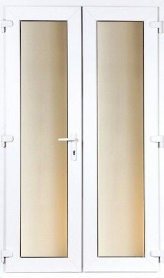 UPVC FRENCH / PATIO DOORS 1200MM X 2100MM WITH GLASS