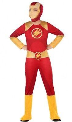 Kostüm Junge Kind Toll Heroes Flash Rot 10/11/12 Jahre Neu - Tolle Kostüm Jungs