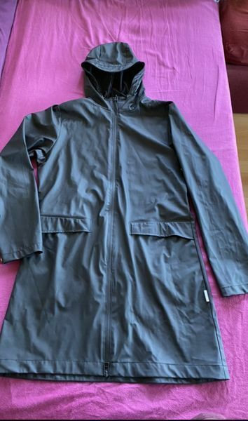 Regenmantel / Regenjacke  in XS / S schwarz für Damen