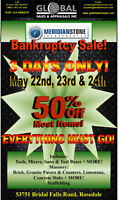 3 Day Bankruptcy Sale! EVERYTHING MUST GO!