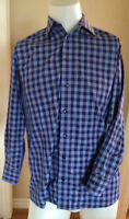ETON OF SWEDEN Check Button Down Dress Casual Slim Shirt