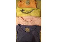 Four pastel T Shirts Men's XXL Job lot for £5!