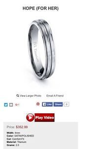 Women's Titanium wedding band