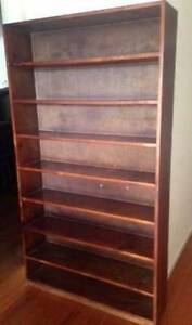 Large Chocolate Timber BOOKCASE BOOKSHELF Display Shelves Burwood East Whitehorse Area Preview