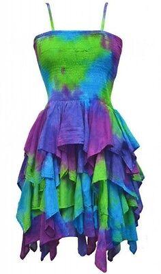 Gothic Lolita Fee Feenkleid Psy Goa Mini Kleid Chelsea grün 38 40 Neu