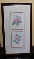 Framed Double Print with Floral Pictures - Price Reduced!