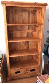 Oak furniture land Baku mango wood furniture bookcase book shelf sideboard shelves drawers