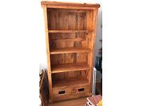 Oak furniture land mango Baku light wood tall bookshelf bookshelves bookcase