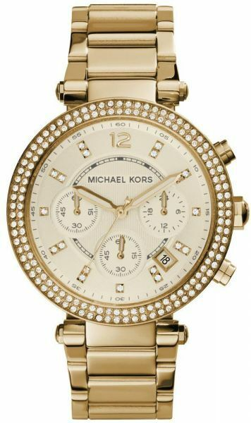 Michael Kors Damen Uhr MK5354 Parker goldfarben Edelstahl NEU