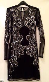 BLACK SEQUIN DRESS UK8 ASOS