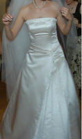Maggie Sottero Wedding Dress 8 10 12 White Sequence Formal