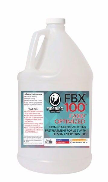 1 Gallon FIREBIRD FBX-100 F2000™ Optimized DTG Pretreatment