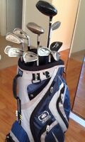 Golf bag including the clubs