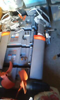 2 Torqueedo Electric Boat Motors with 4 batteries