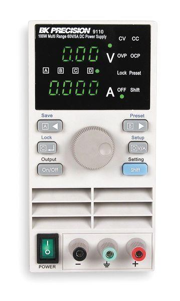 B&K PRECISION 9110 Single Output Power Supply,0 to 60 VDC