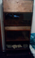 Double reptile enclosure and storage