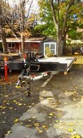 24 FT 7 TON DECK OVER FLOAT TRAILER