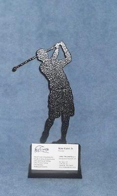 Metal Golf Desktop Business Card Holder
