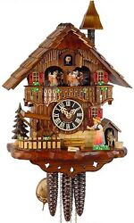 cuckoo clock hönes black forest 1 day original german  wood music new